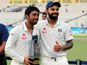 Ranchi Test: Kohli all praise for Pujara, Saha
